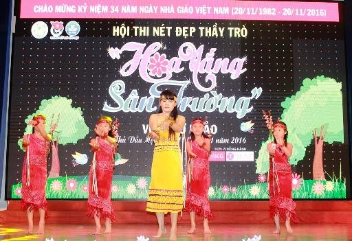 Trường TH Trần Phú tham gia phần thi năng khiếu